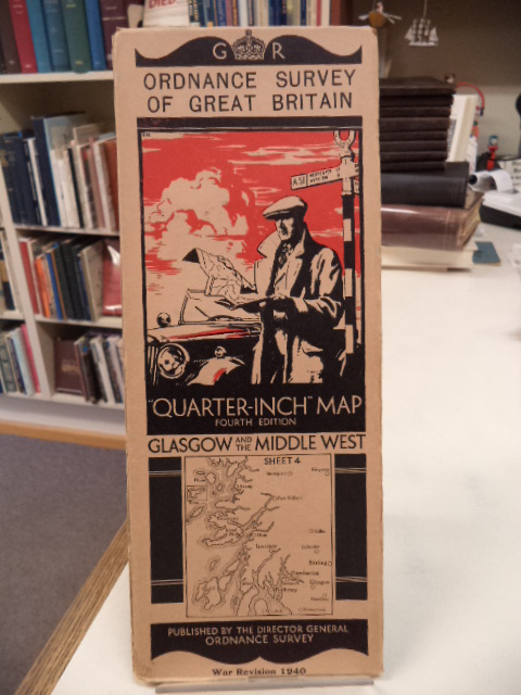 "Image for Glasgow and the Middle West. Sheet 4. Ordnance Survey of Great Britain. War Revision 1940. ""Quarter Inch"" Map. Fourth Edition"