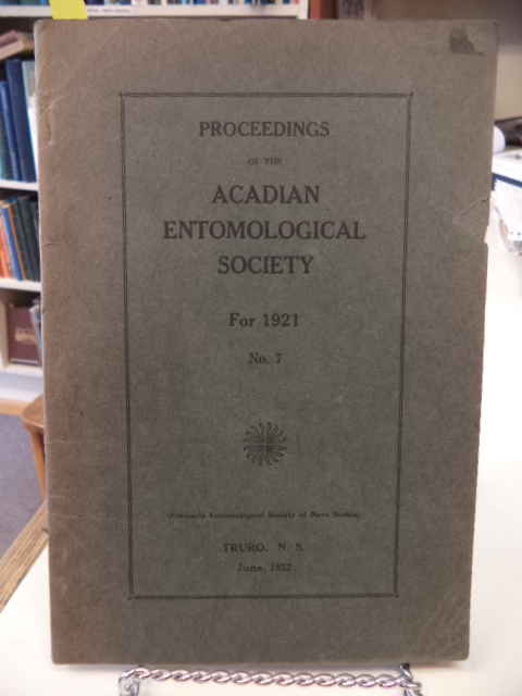 Image for Proceedings of the Acadian Entomological Society For 1921