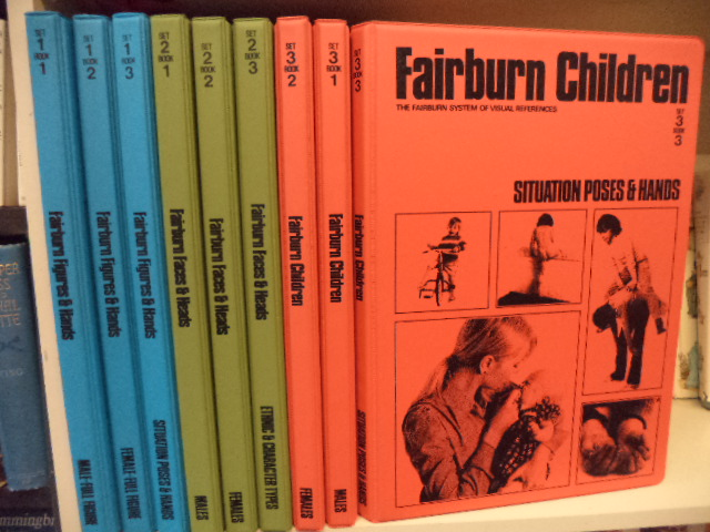 Image for The Fairburn System of Visual References. Sets 1, 2, 3 Complete in 9 volumes: Fairburn Figures & Hands / Fairburn Faces & Heads / Fairburn Children