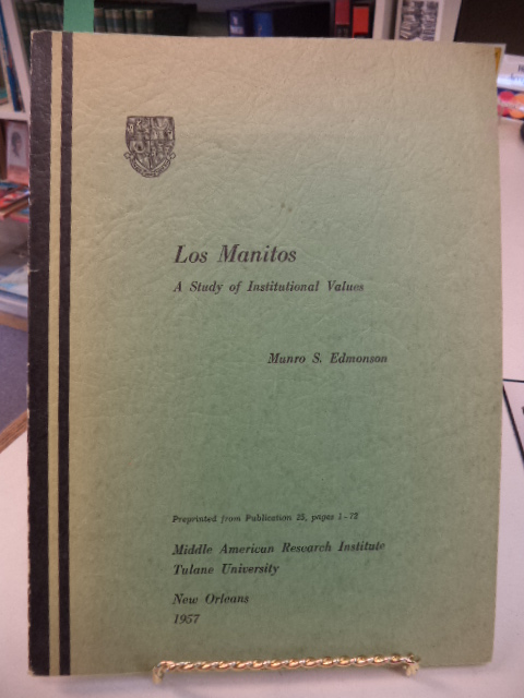 Image for Los Manitos.  A Study of Institutional Values