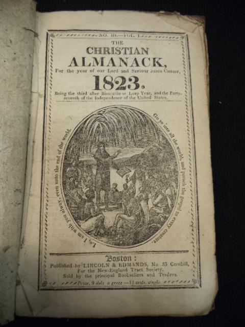 Image for The Christian Almanack, For The Year of Our Lord 1823 [No. III Vol. 1]