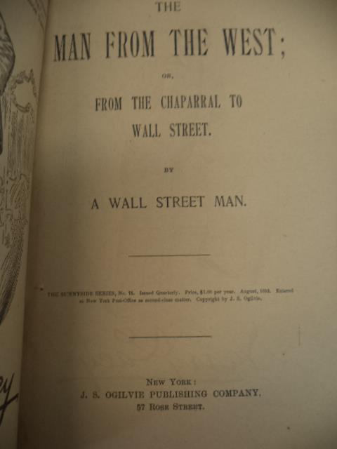 Image for The Man From The West, or From The Chaparral to Wall Street