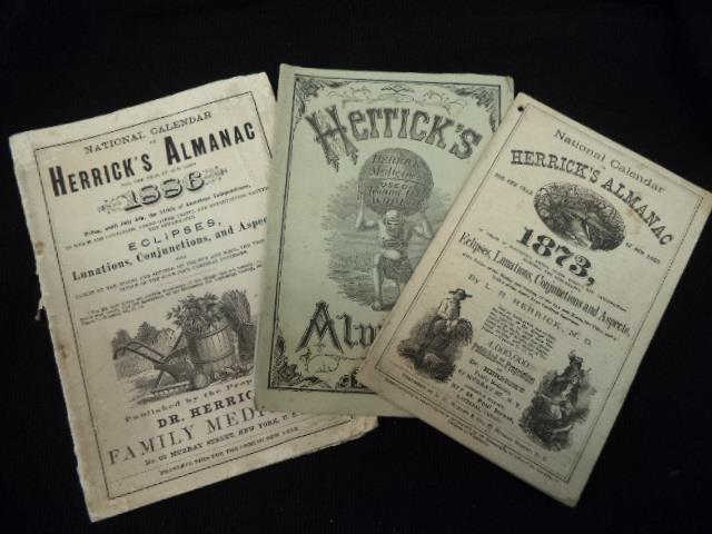 Image for Herrick's Almanac For the years 1873, 1877, 1886 [three issues]