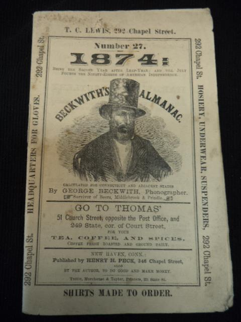 Image for Beckwith's Almanac Number 27: 1874