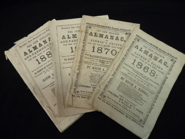 Image for The New England Almanac, And Farmer's Friend For The year of Our Lord 1868 [and 1870, 1879, 1887] Four issues