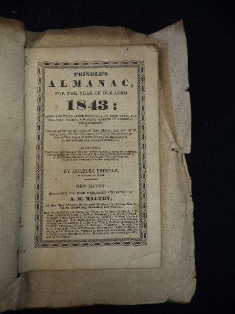 Image for Prindle's Almanac, For The Year of Our Lord 1843