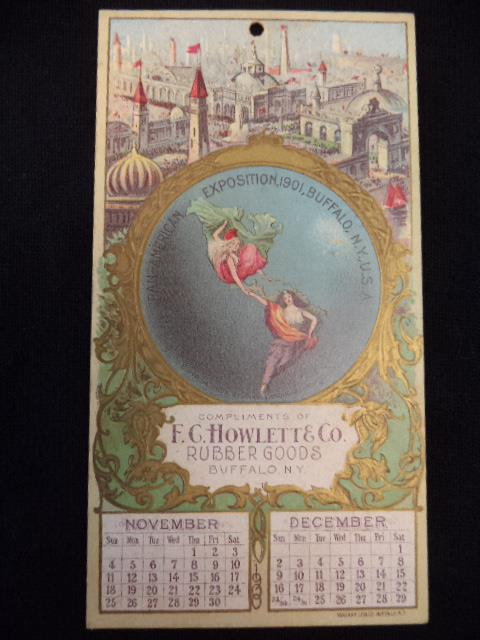 Image for Pan-American Exposition Calendar for November and December 1900