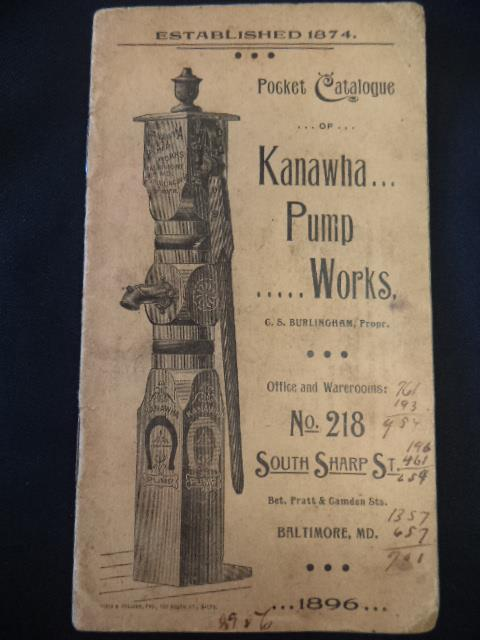 Image for Pocket Catalogue of Kanawha Pump Works, 1896