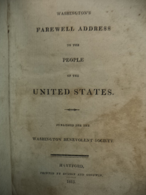 Image for Washington's Farewell Address to the People of the United States. Published for the Washington Benevolent Society. [WITH Constitution of the United States of America...]