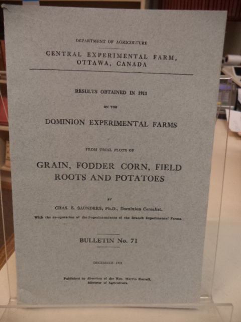 Image for Results obtained in 1911 on the Dominion Experimental Farms from Trial Plots of Grain, Fodder corn, Field Roots and Potatoes