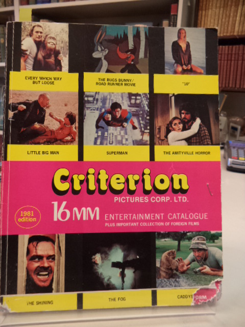 Image for Criterion Pictures Corp. Ltd. (Toronto) 16mm Entertainment Catalogue 1981 edition