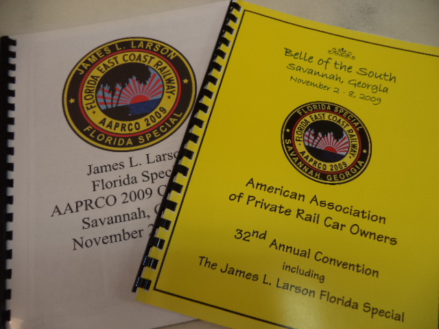 Image for AAPRCO 2009 James L. Larson Florida Special. Route Guide / Trip Book and Convention Program.