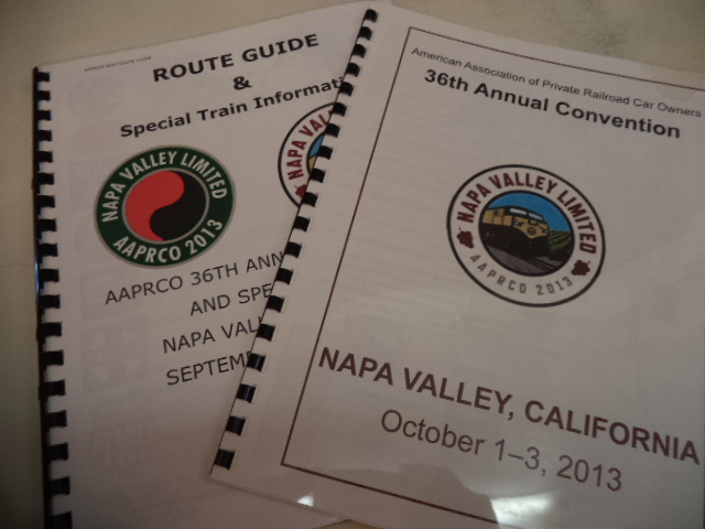 Image for AAPRCO 2013 Napa Valley Limited Route Guide & Special Train Information and Convention Program.