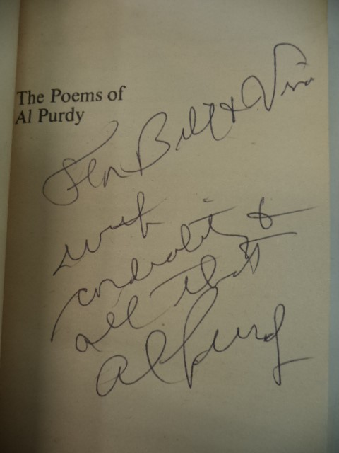 Image for The Poems of Al Purdy. [inscribed]