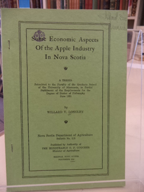 Image for Some Economic Aspects of the Apple Industry in Nova Scotia