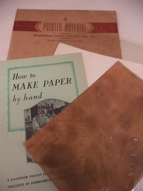 Image for How To Make Paper By Hand : a classroom project for the study of paper making.