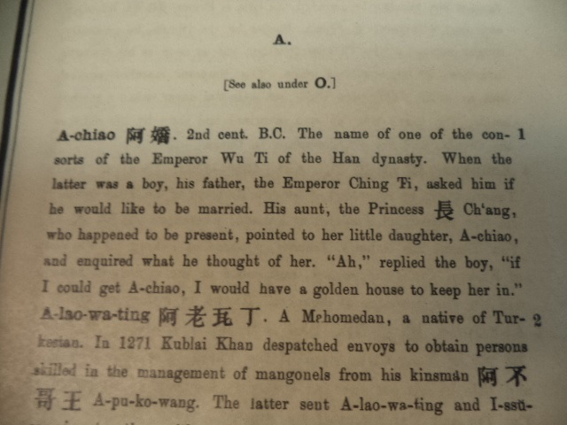 Image for A Chinese Biographical Dictionary