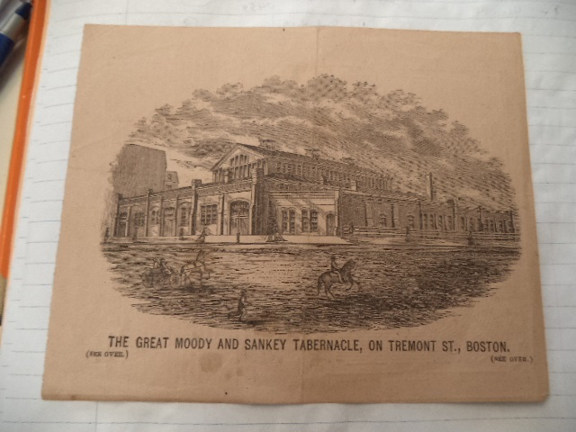 Image for The Great Moody And Sankey Tabernacle, On Tremont St., Boston [handbill]