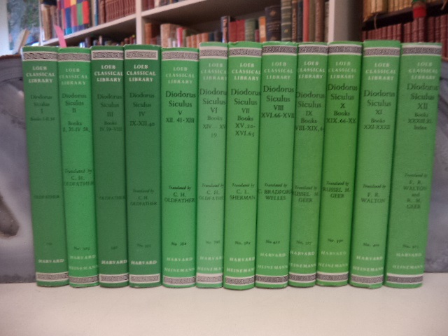 Image for Loeb Classical Library: Diodorus of Sicily in Twelve Volumes: Volumes 1-12 [complete set. Bibliotheca Historica; The Library of History]