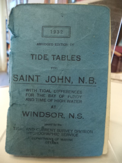Image for Abridged Edition of Tide Tables for Saint John, N.B. with tidal differences for the Bay of Fundy and time of high water at Windsor, N.S.