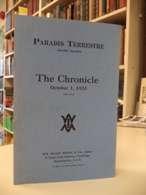 Image for Paradis Terrestre (Earthly Paradise) : The Chronicle,  October, 1933,  Number 217