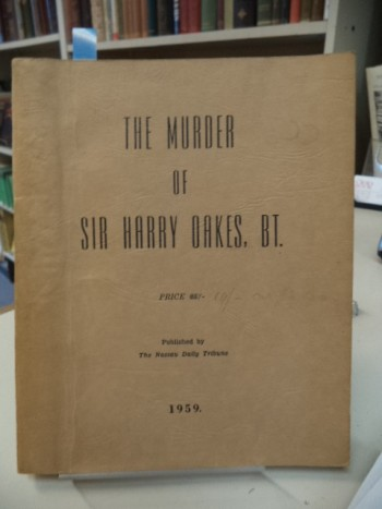 Image for The Murder of Sir Harry Oakes, BT.