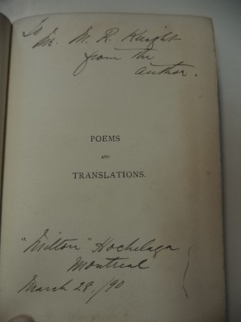 Image for Poems and Translations [inscribed]