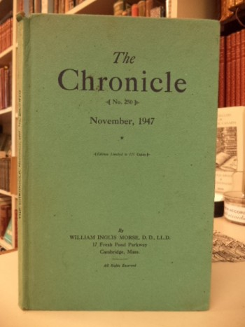 Image for The Chronicle, November, 1947,  Number 250