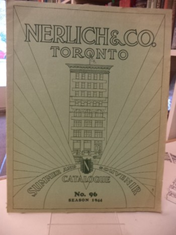 Image for Nerlich & Co. Toronto. General Catalogue No. 96. Season 1944. [Summer and Souvenir Catalogue]