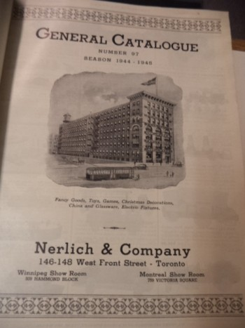 Image for Nerlich & Co. Toronto. General Catalogue No. 97. Season 1944 - 1945 Fancy Goods, Toys, Games, Christmas Decorations, China and Glassware, Electric Fixtures. [Fall and Holiday Season: 1944]