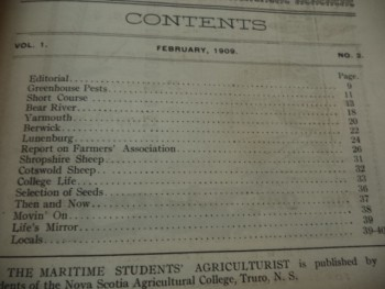 Image for The Maritime Students' Agriculturist. Vol. I No. 2  [February 1909]