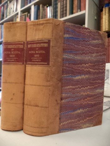 Image for The Revised Statutes of Nova Scotia 1900 [Volumes I and II]