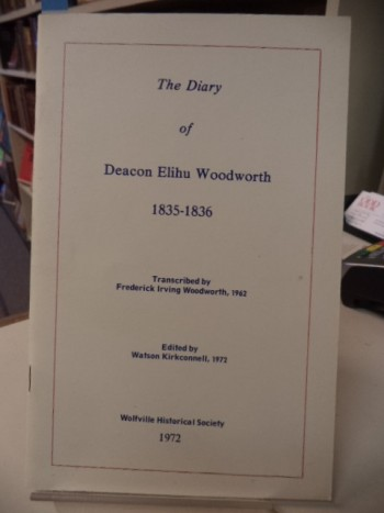 Image for The Diary of Deacon Elihu Woodworth  1835-1836