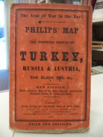 Image for The Seat of the War in the East - Philips' Map of the Frontier Provinces of Turkey, Russia & Austria, the Black Sea, &c. - New Edition, With a Detailed Map of the River Danube, Showing the Fortified Towns, &c. along its course.