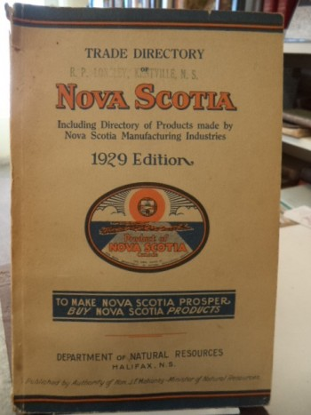 Image for Trade Directory of Nova Scotia. Including Directory of Products made by Nova Scotia Manufacturing Industries. 1929