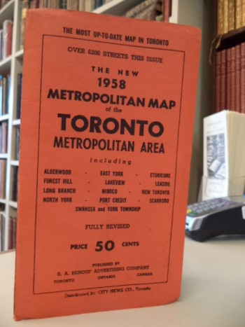 Image for The New 1958 Metropolitan Map of the Toronto Metropolitan Area. including Alderwood, East York, Etobicoke, Forest Hill, Lakeview, Leaside, Long Branch, Mimico, New Toronto, North york, Port Credit, Scarboro, Swansea and York Township