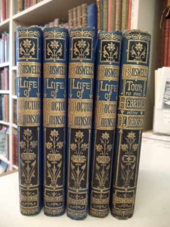 Image for The Life of Samuel Johnson, and Journal of a Tour to the Hebrides [five volumes in publisher's binding]