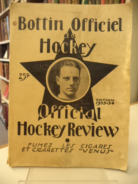 Image for Bottin Officiel du Hockey / Official Hockey Review 1933-34