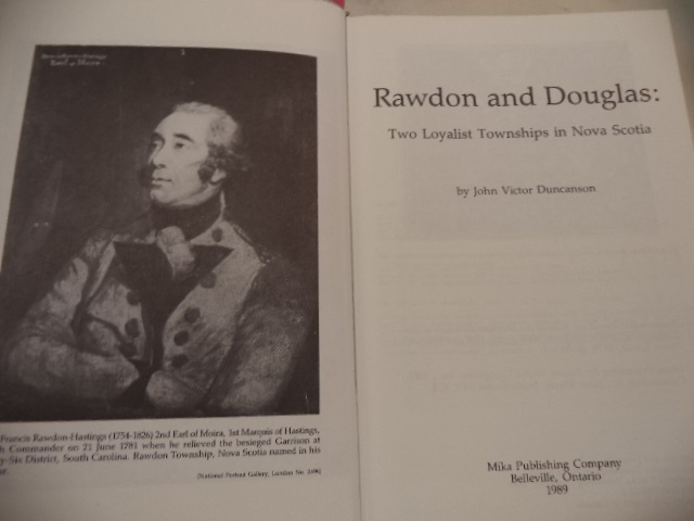 Image for Rawdon and Douglas: Two Loyalist Townships in Nova Scotia