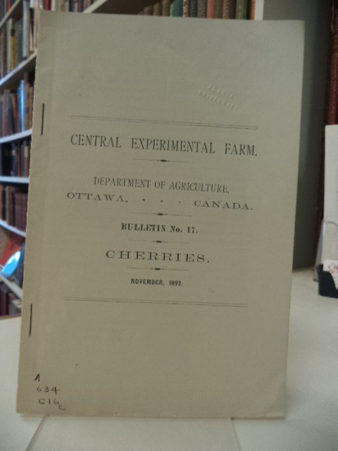 Image for Cherries [Central Experimental Farm; Department of Agriculture, Ottawa. Bulletin No. 17]