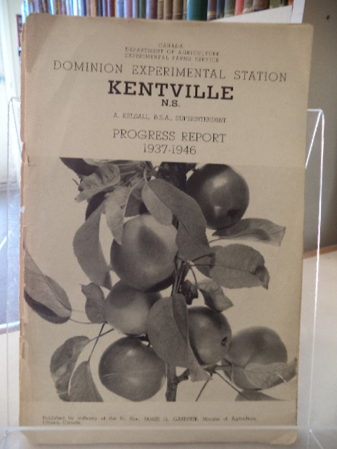 Image for Dominion Experimental Station, Kentville N.S., Progress Report 1937 - 1946