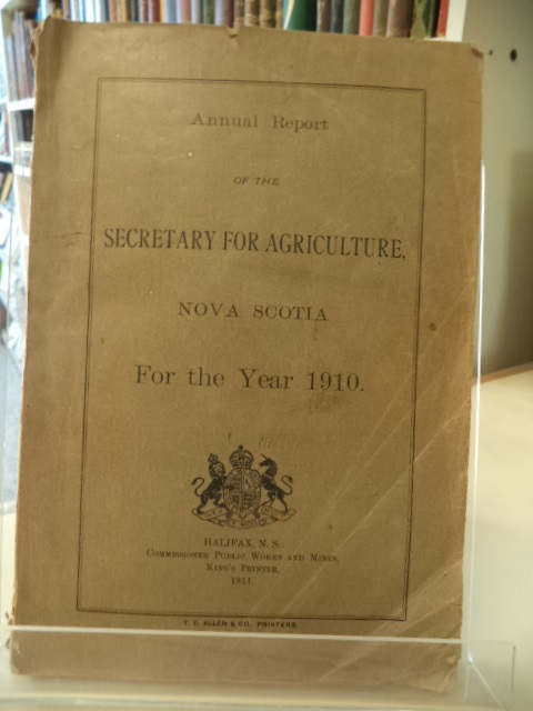 Image for Annual Report of the Secretary of Agriculture, Nova Scotia, for the year 1910