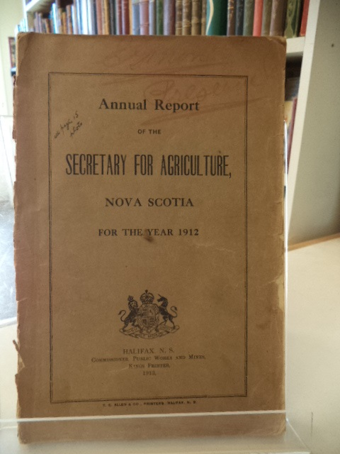 Image for Annual Report of the Secretary of Agriculture, Nova Scotia, for the year 1912