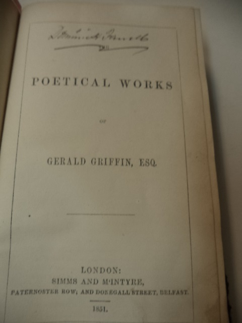 Image for The Poetical Works of Gerald Griffin, ESQ.