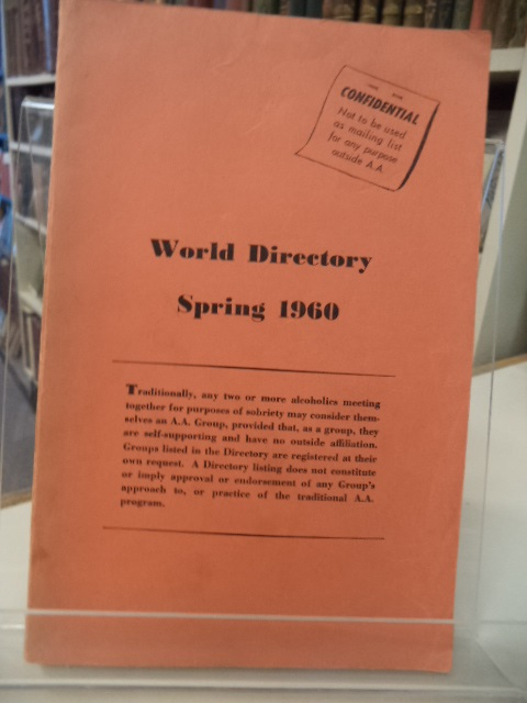Image for World Directory, Spring 1960 (with order form and membership maps)