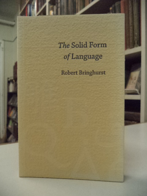 Image for The Solid Form of Language [inscribed]