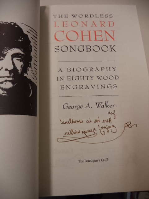 Image for The Wordless Leonard Cohen Songbook.  A Biography in Eighty Wood Engravings