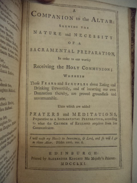 Image for The Book of Common Prayer, and Administration of the Sacraments.... WITH: A Companion to the Altar.... WITH: A New Version of the Psalms of David Fitted to the Tunes Used in Churches