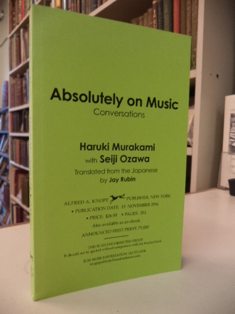Image for Absolutely on Music. Conversations [uncorrected proof]