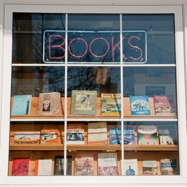 The Odd Book Front Window - Photo Credit Bruce Dienes